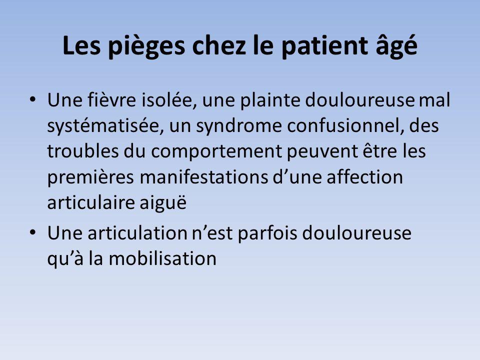 Les pièges chez le patient âgé