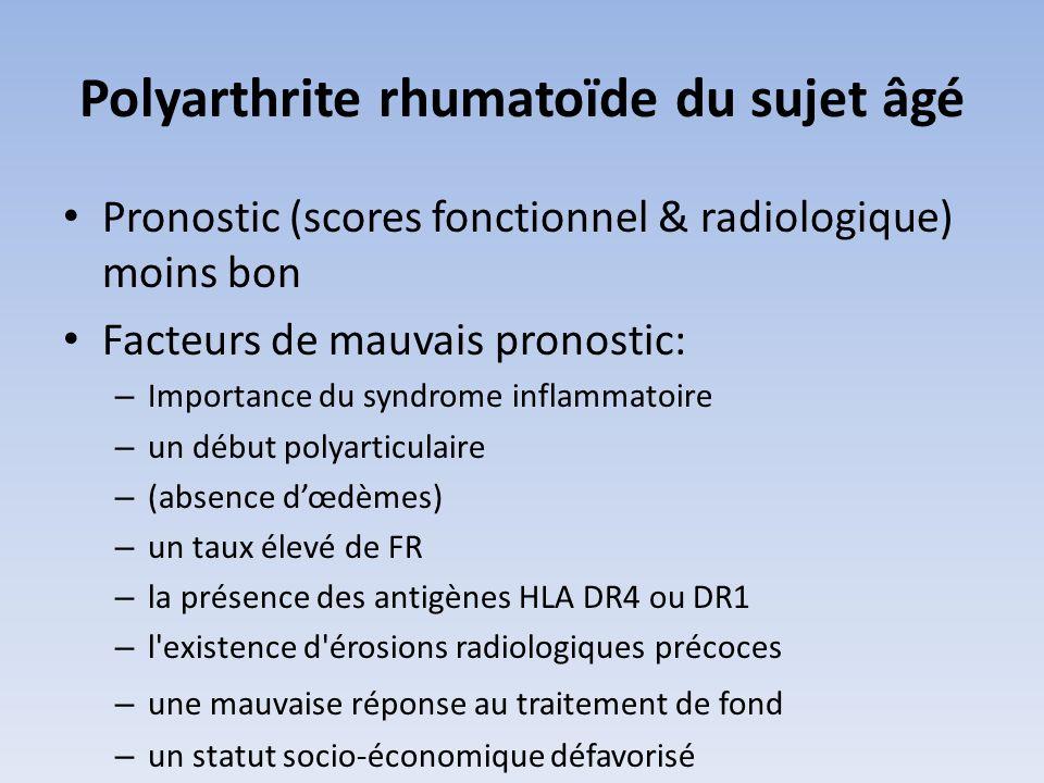 Polyarthrite rhumatoïde du sujet âgé