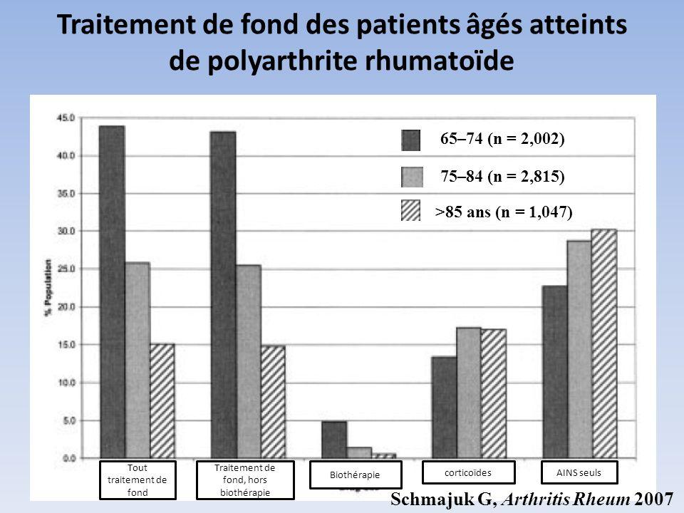 Traitement de fond des patients âgés atteints de polyarthrite rhumatoïde