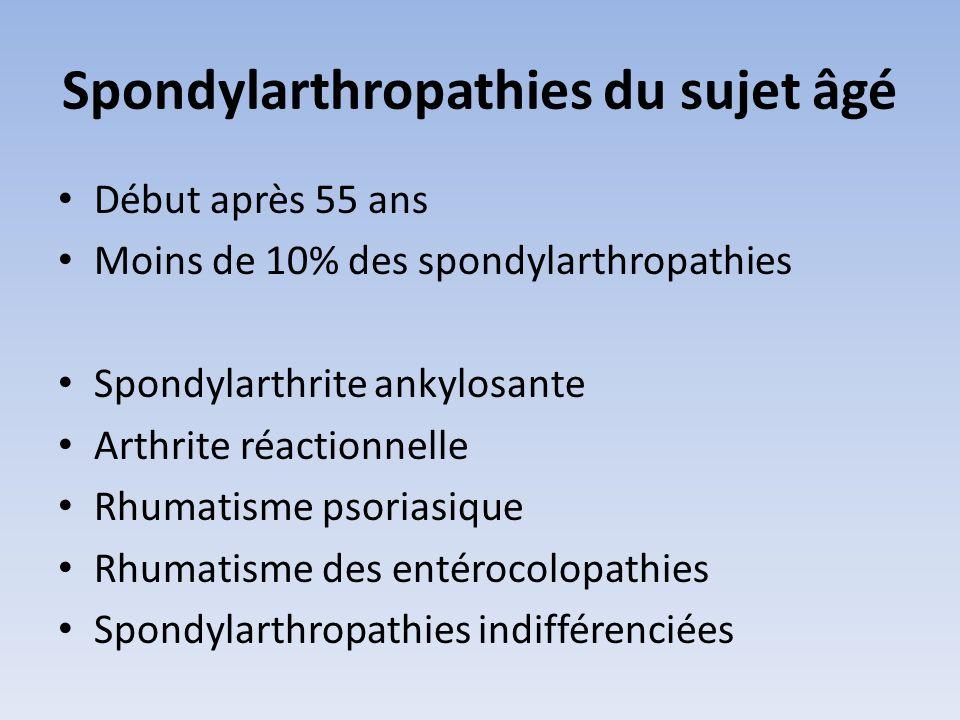 Spondylarthropathies du sujet âgé