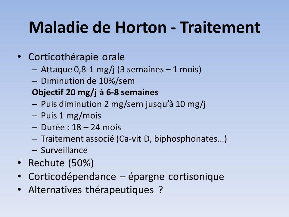 Maladie de Horton - Traitement