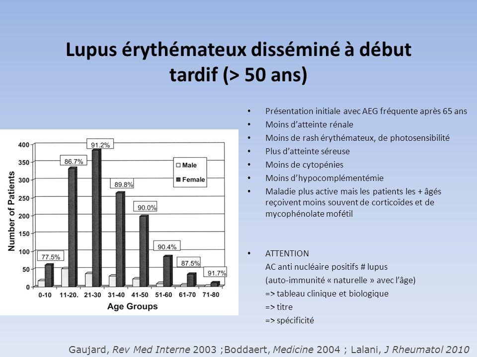 Lupus érythémateux disséminé à début tardif (> 50 ans)