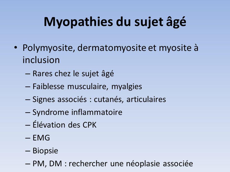 Myopathies du sujet âgé
