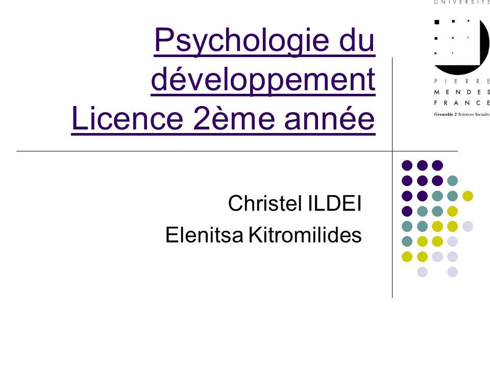 Psychologie du développement Licence 2ème année