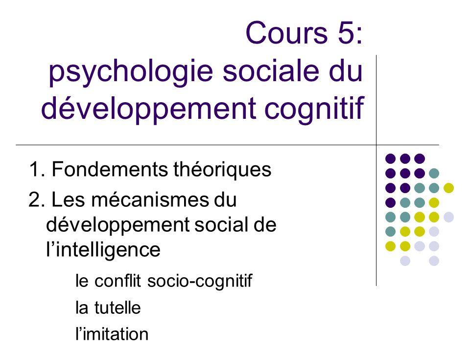 Cours 5: psychologie sociale du développement cognitif