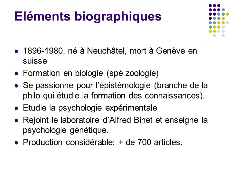 Eléments biographiques