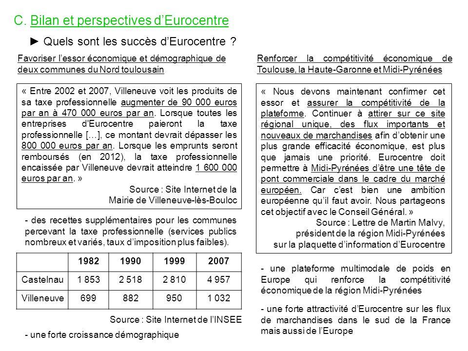 C. Bilan et perspectives d'Eurocentre