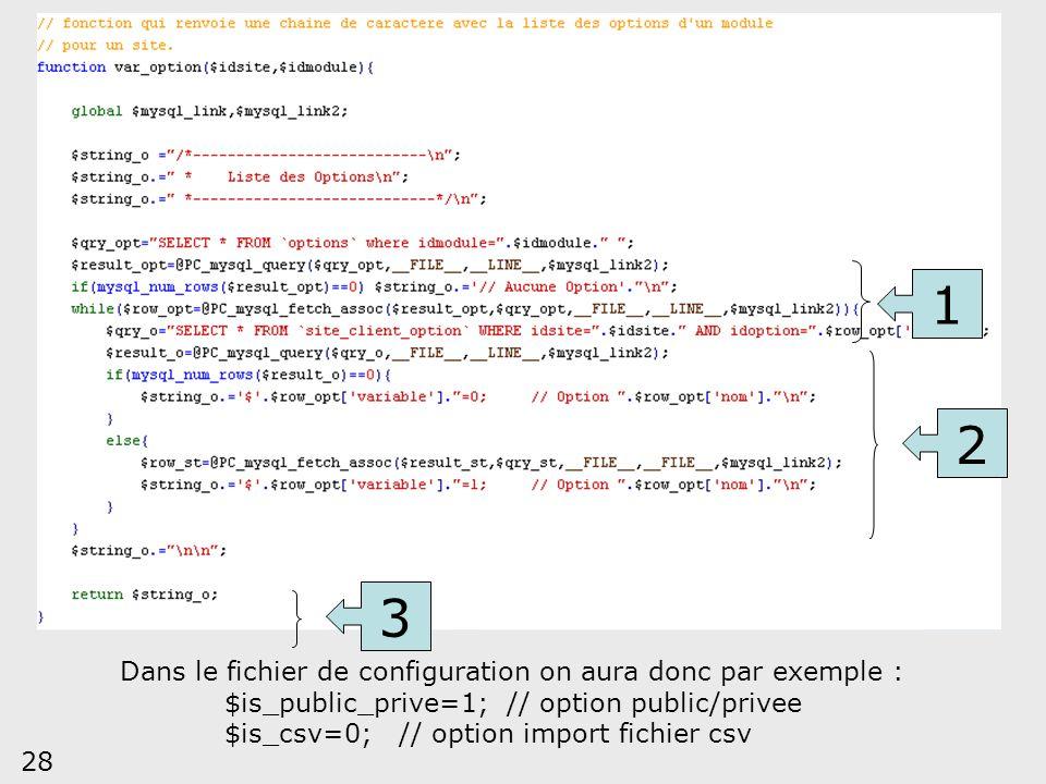 1 2 3 Dans le fichier de configuration on aura donc par exemple :