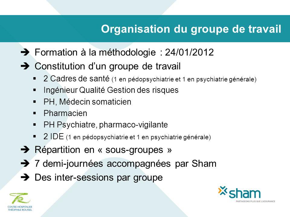 Organisation du groupe de travail
