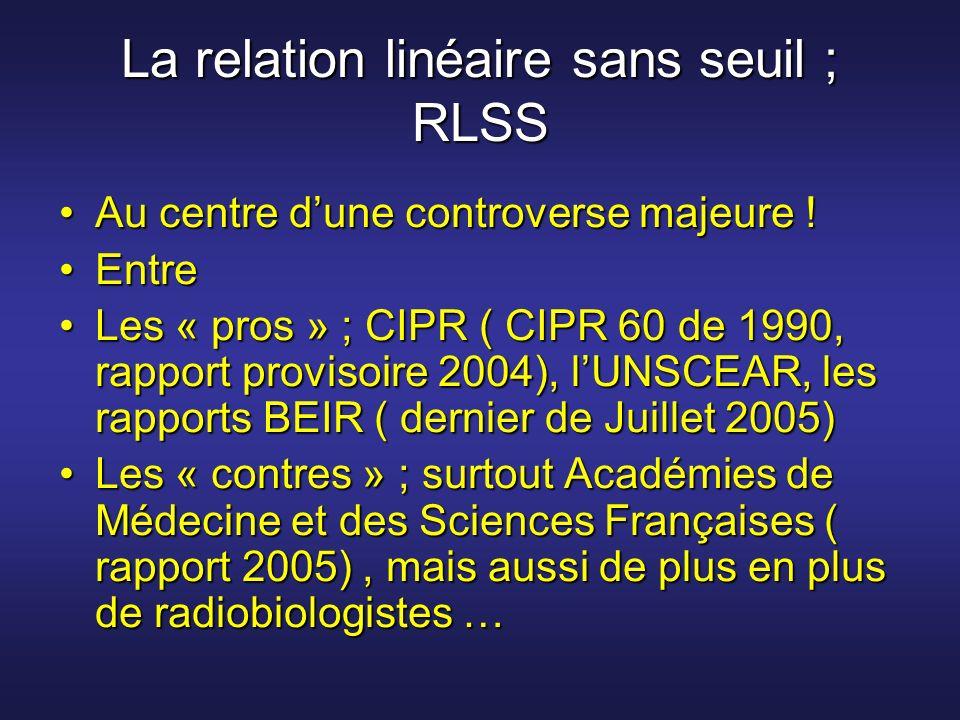 La relation linéaire sans seuil ; RLSS