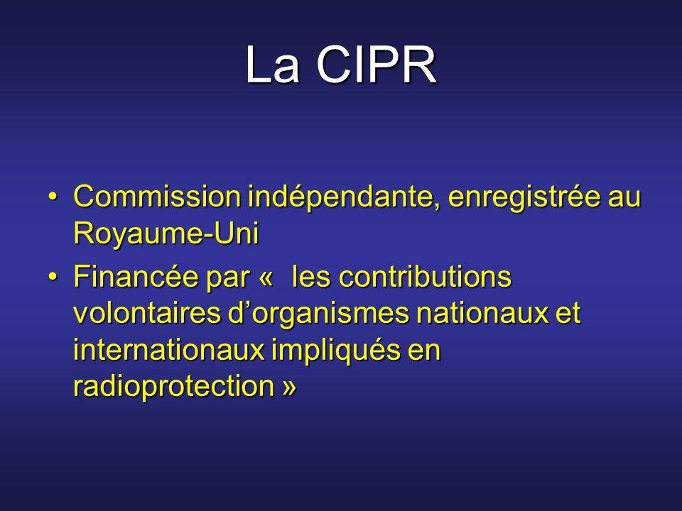 La CIPR Commission indépendante, enregistrée au Royaume-Uni