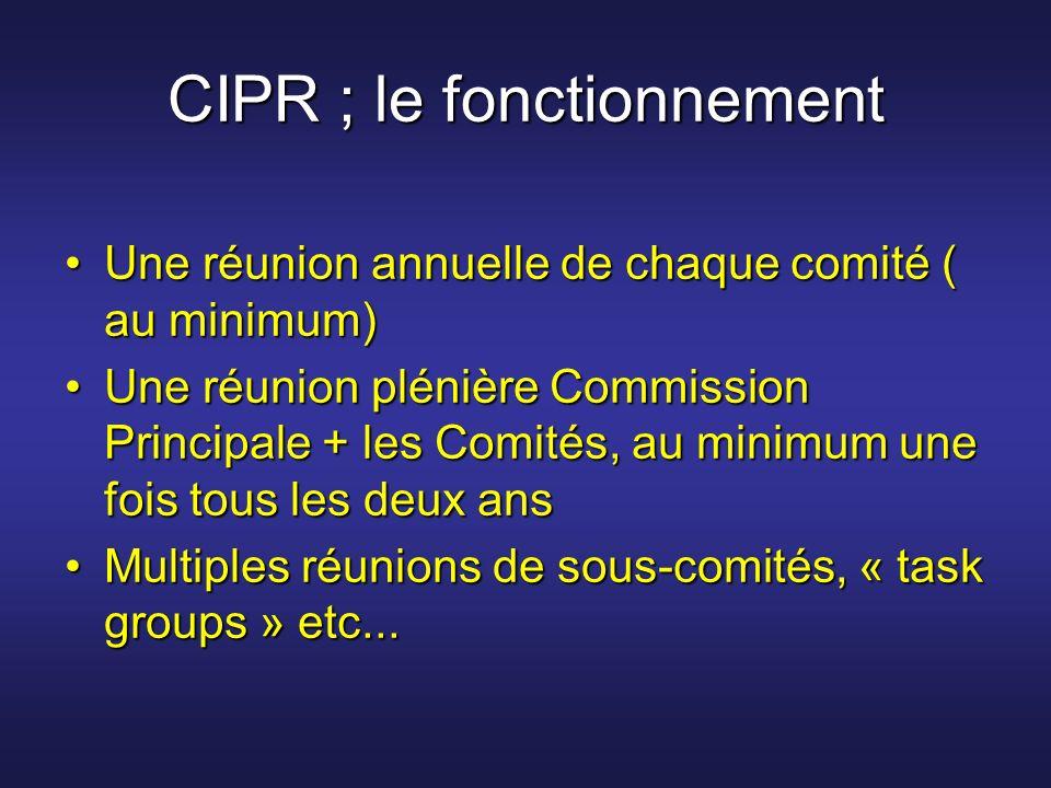 CIPR ; le fonctionnement