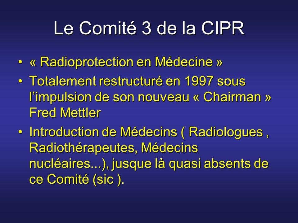 Le Comité 3 de la CIPR « Radioprotection en Médecine »
