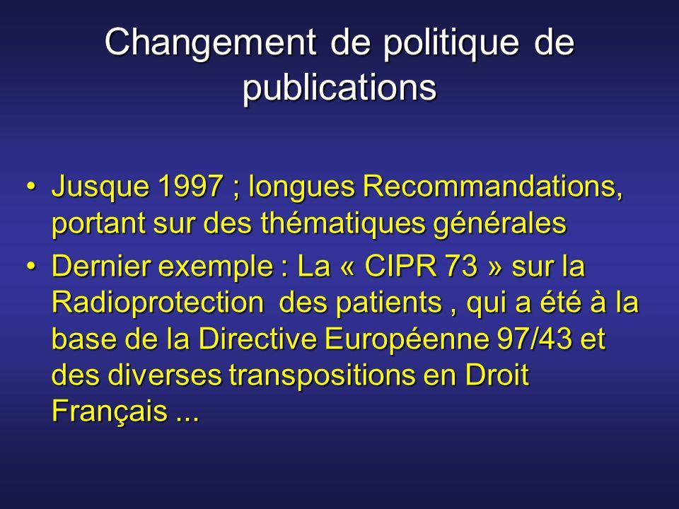 Changement de politique de publications