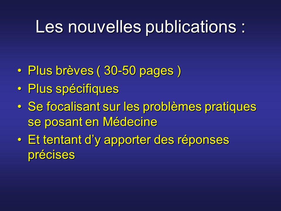 Les nouvelles publications :