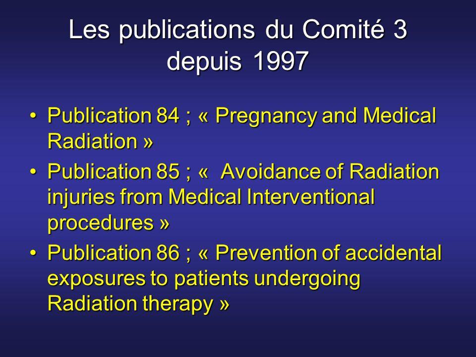 Les publications du Comité 3 depuis 1997