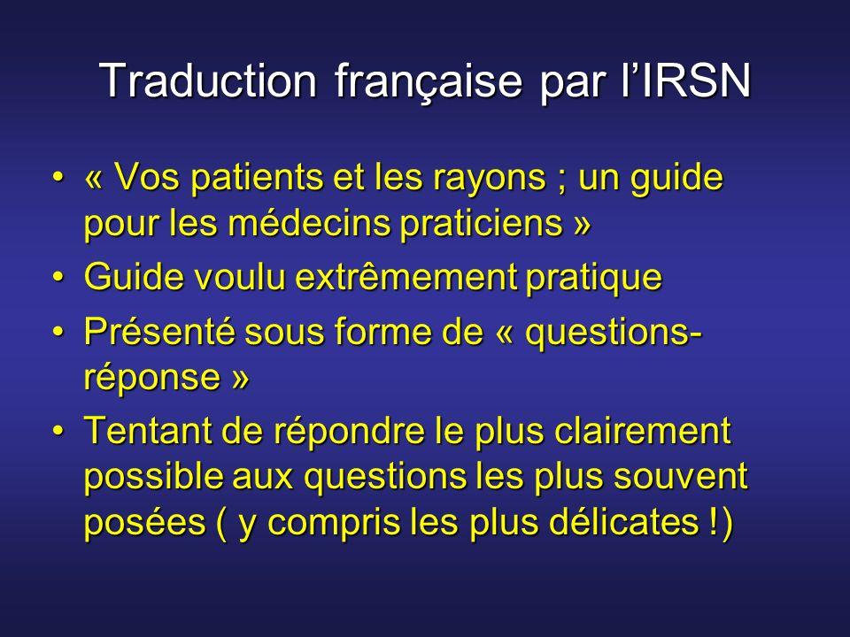 Traduction française par l'IRSN