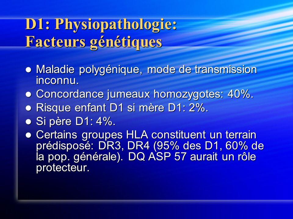 D1: Physiopathologie: Facteurs génétiques