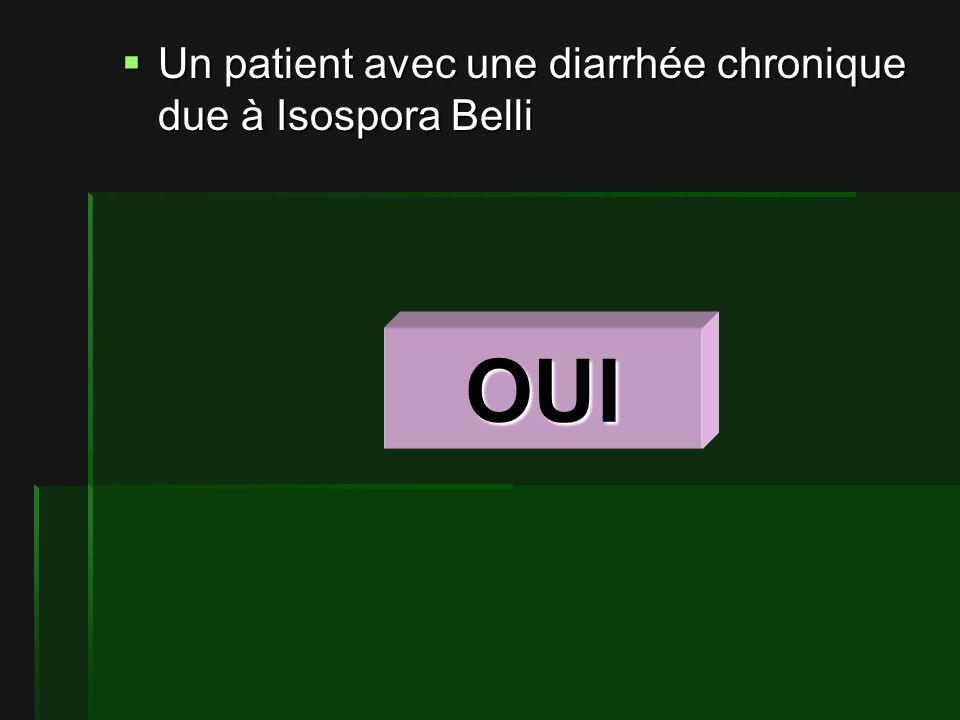 Un patient avec une diarrhée chronique due à Isospora Belli