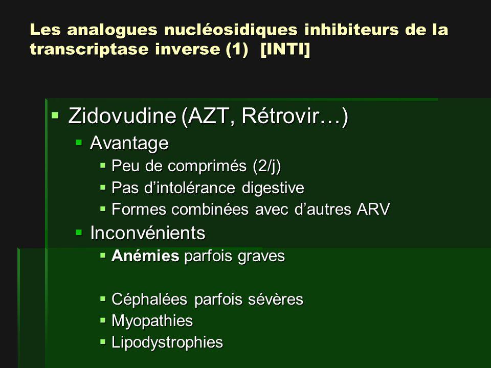 Zidovudine (AZT, Rétrovir…)