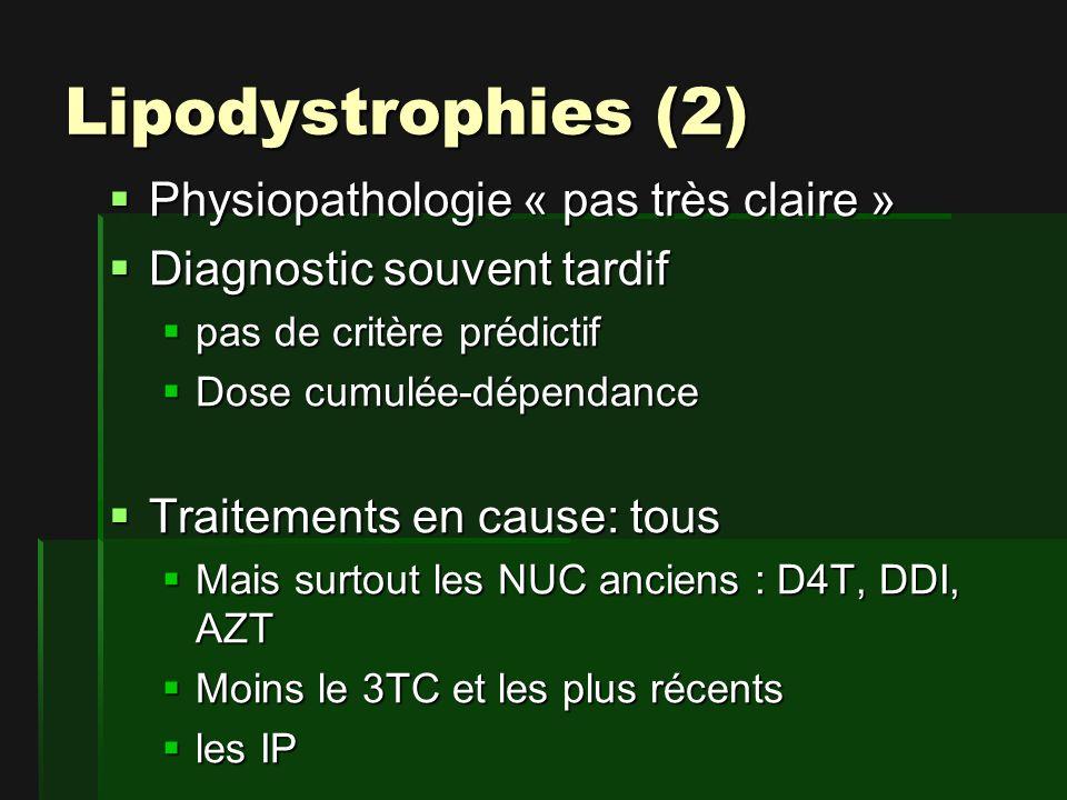 Lipodystrophies (2) Physiopathologie « pas très claire »