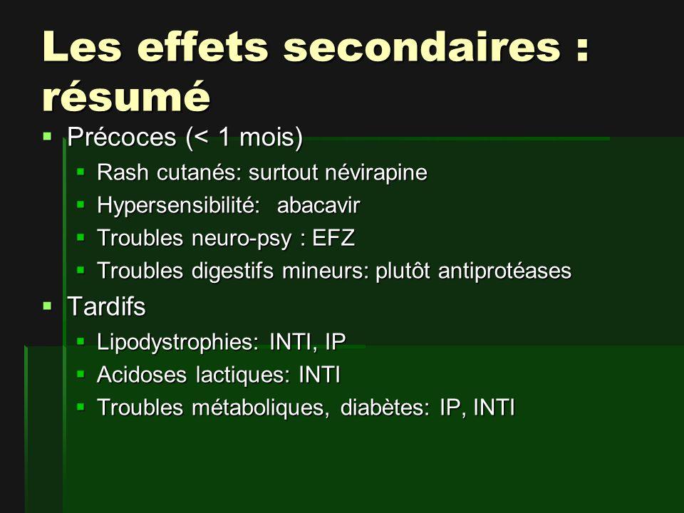 Les effets secondaires : résumé