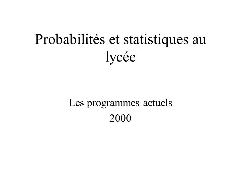 Probabilités et statistiques au lycée