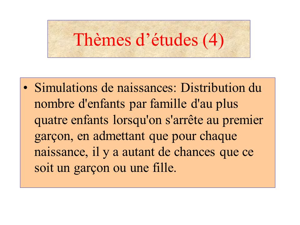 Thèmes d'études (4)