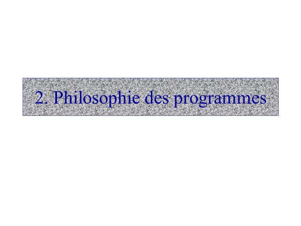 2. Philosophie des programmes