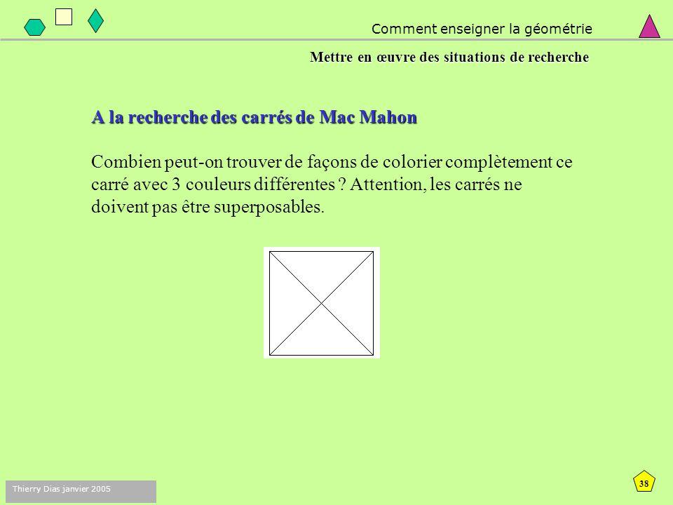 A la recherche des carrés de Mac Mahon