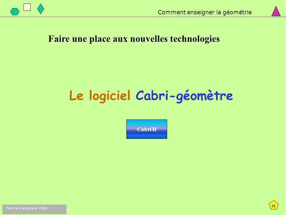 Le logiciel Cabri-géomètre