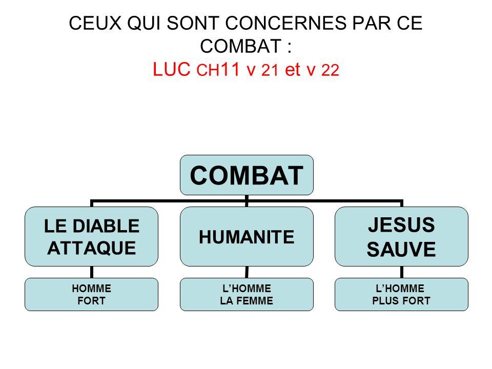 CEUX QUI SONT CONCERNES PAR CE COMBAT : LUC CH11 v 21 et v 22