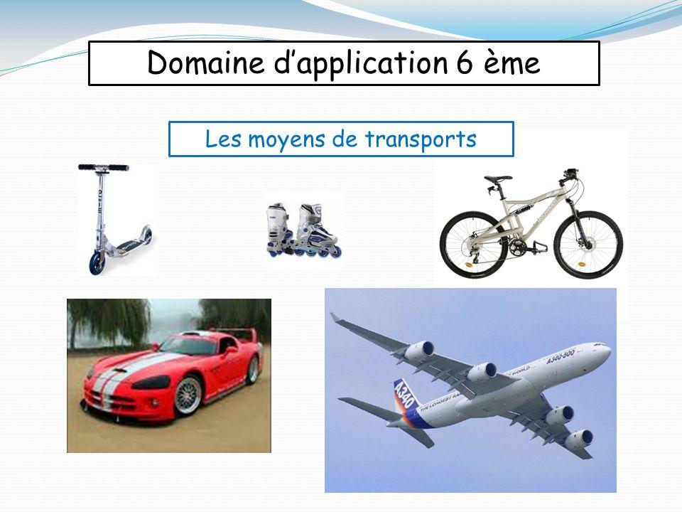 Domaine d'application 6 ème