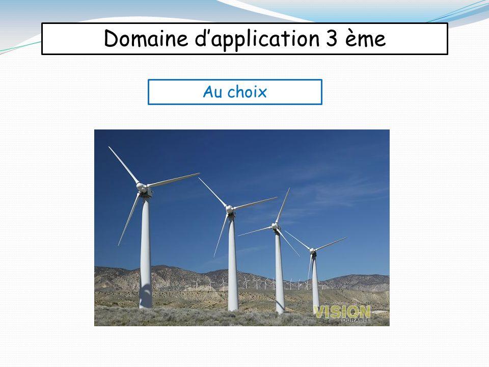 Domaine d'application 3 ème