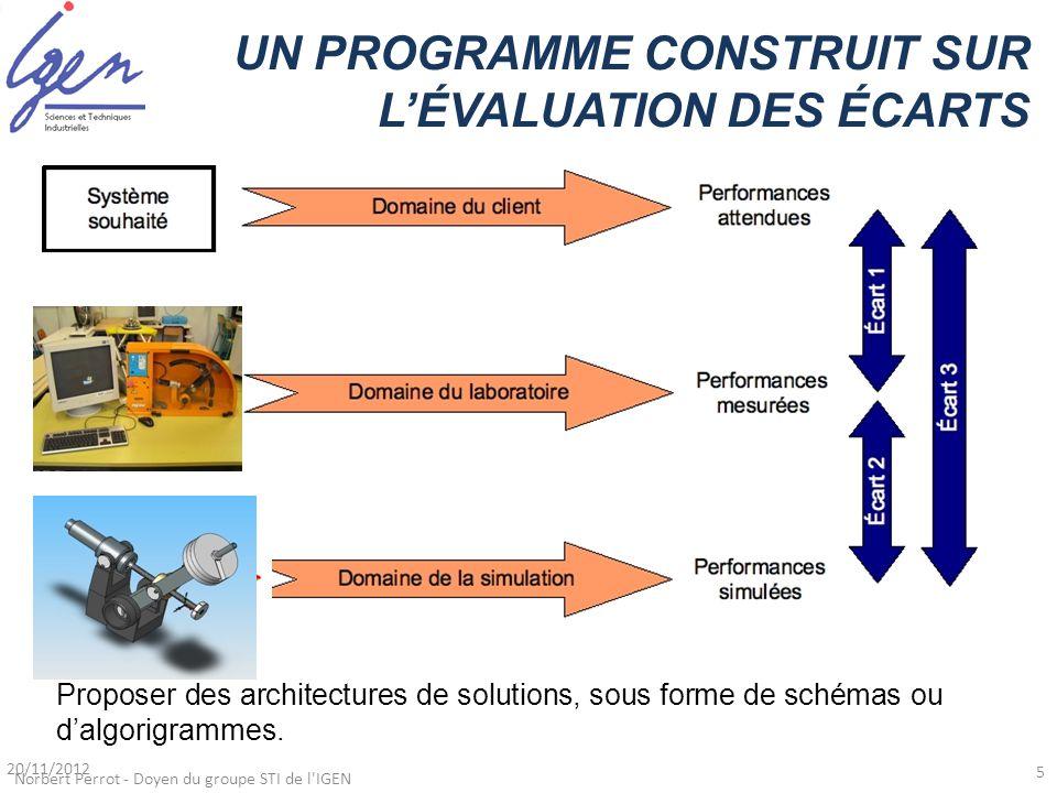 UN PROGRAMME CONSTRUIT SUR L'ÉVALUATION DES ÉCARTS