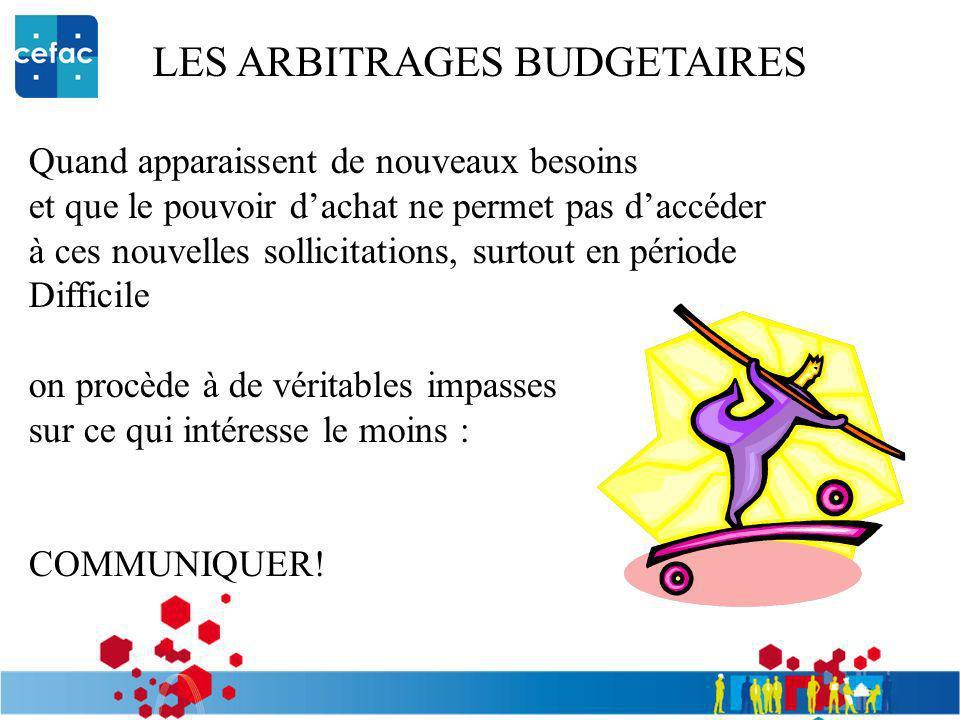 LES ARBITRAGES BUDGETAIRES