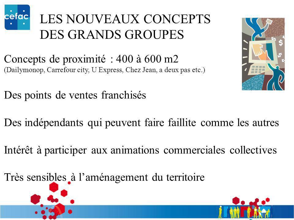 LES NOUVEAUX CONCEPTS DES GRANDS GROUPES