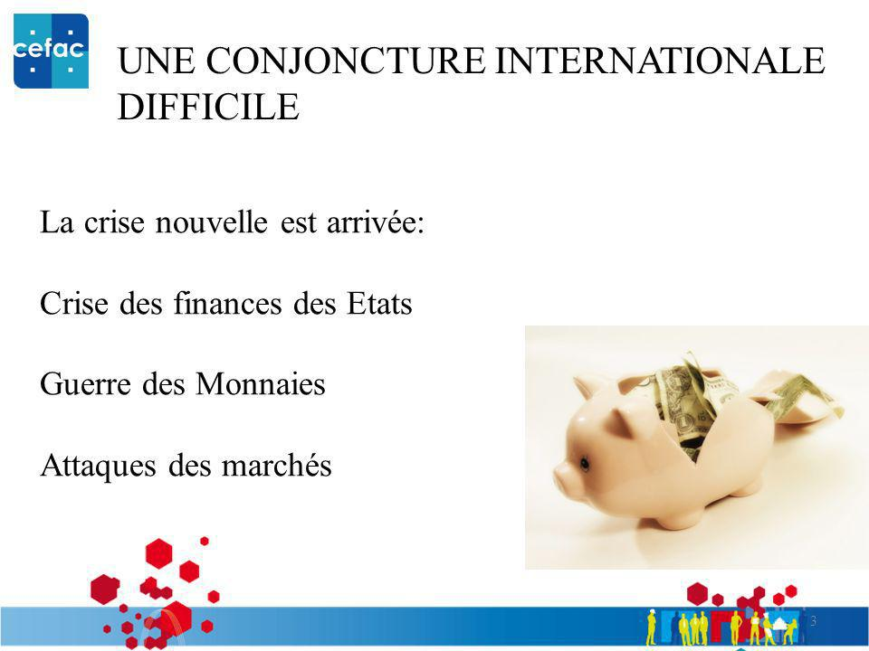 UNE CONJONCTURE INTERNATIONALE DIFFICILE