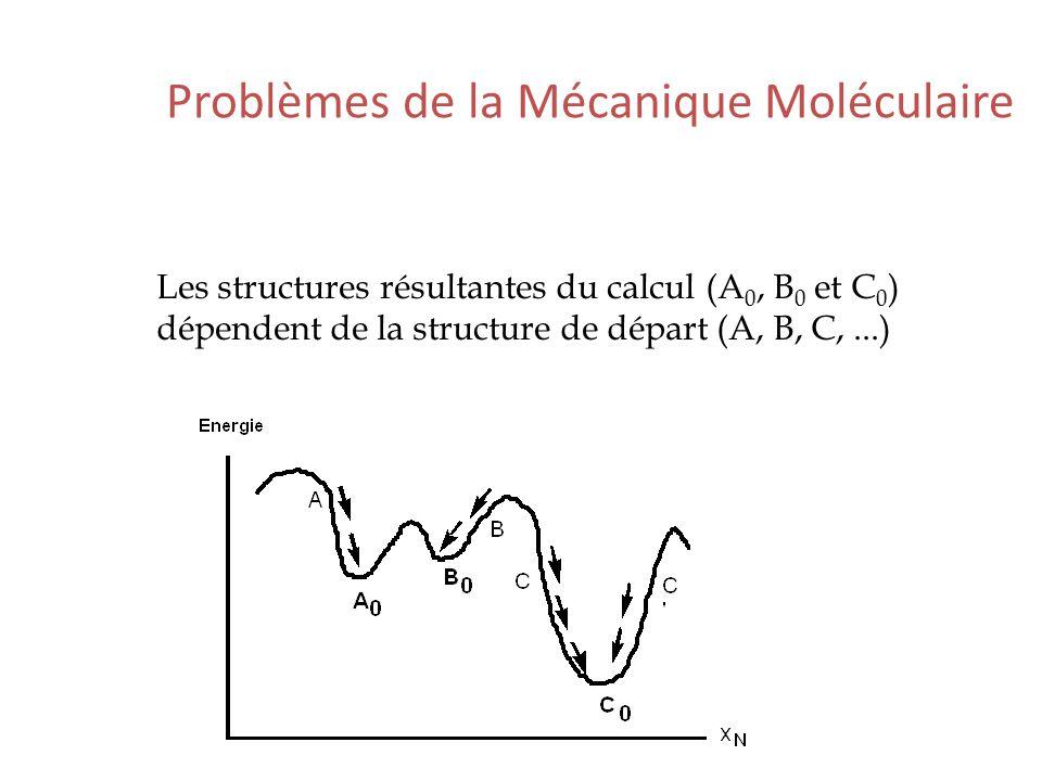 Problèmes de la Mécanique Moléculaire