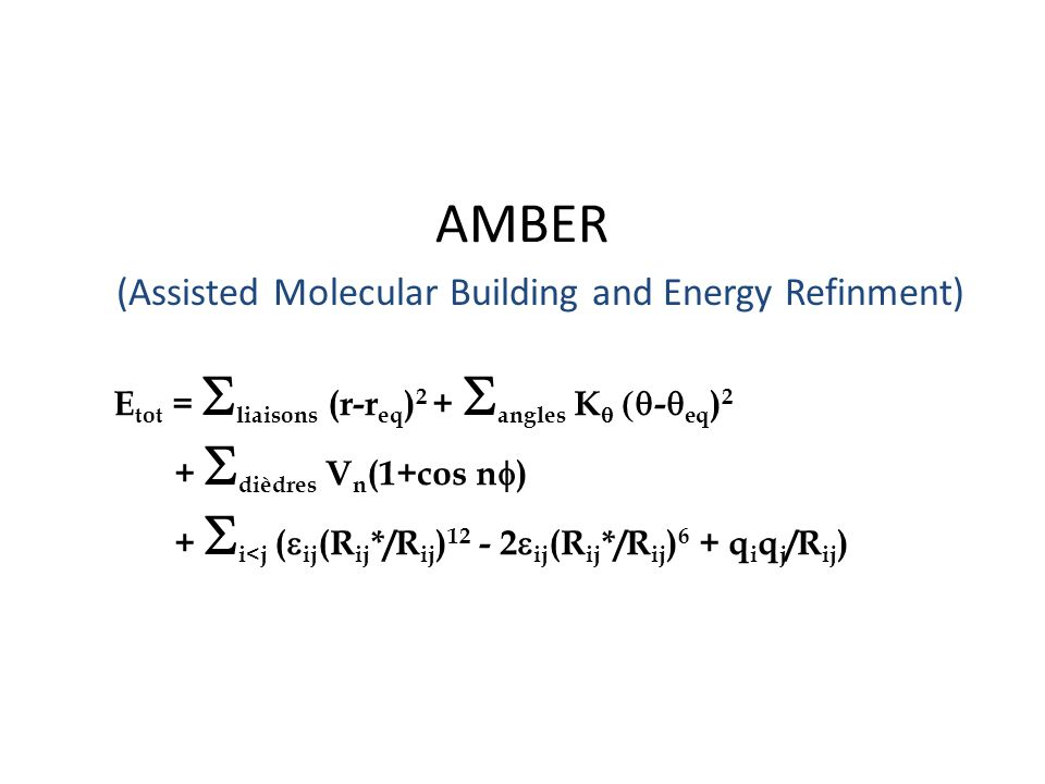 (Assisted Molecular Building and Energy Refinment)