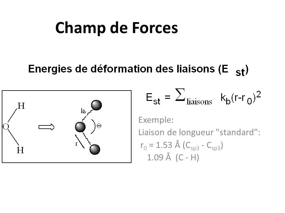 Champ de Forces Exemple: Liaison de longueur standard :