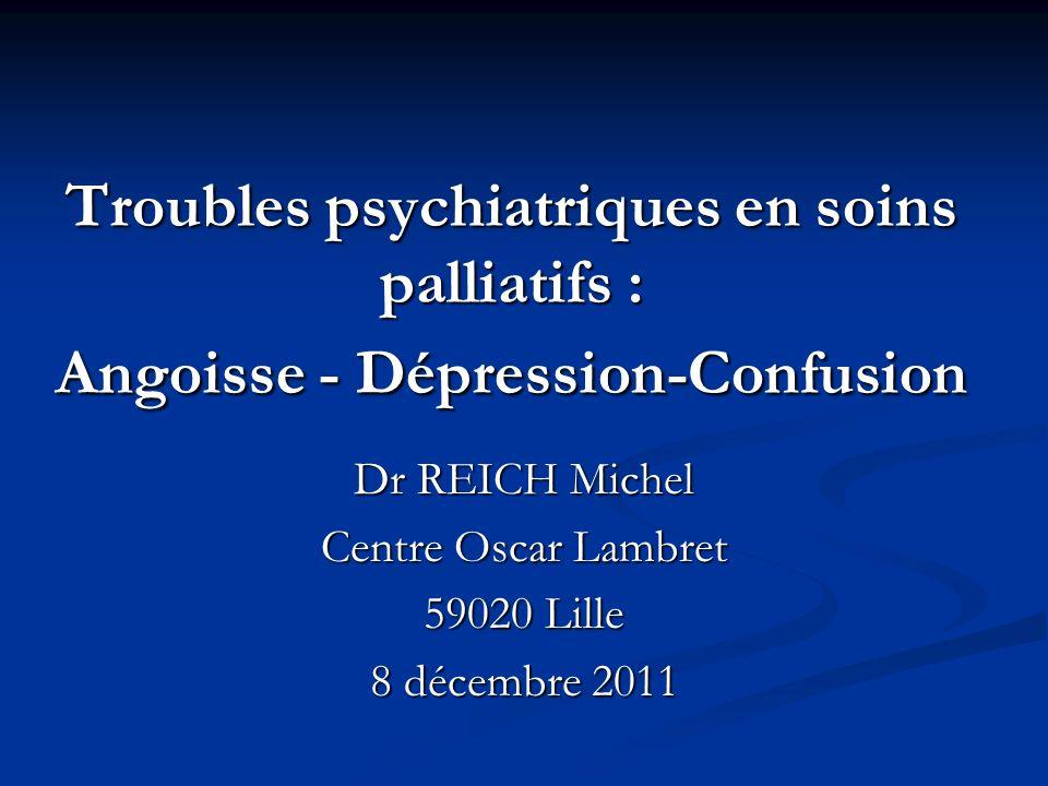 Dr REICH Michel Centre Oscar Lambret 59020 Lille 8 décembre 2011