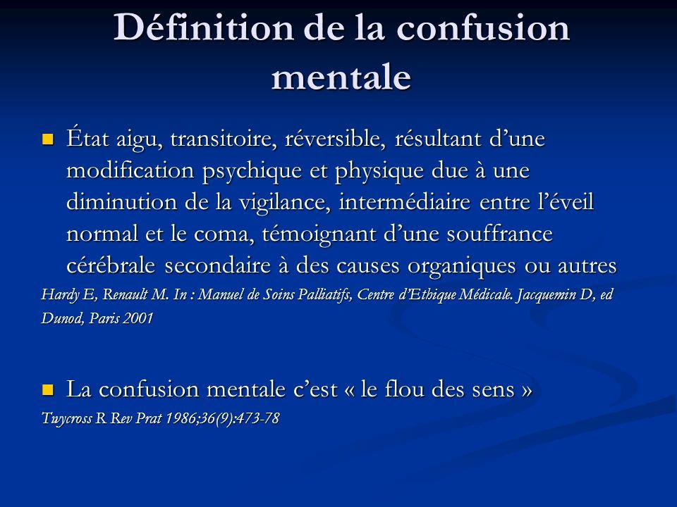 Définition de la confusion mentale