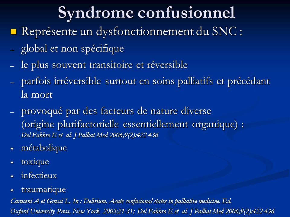 Syndrome confusionnel