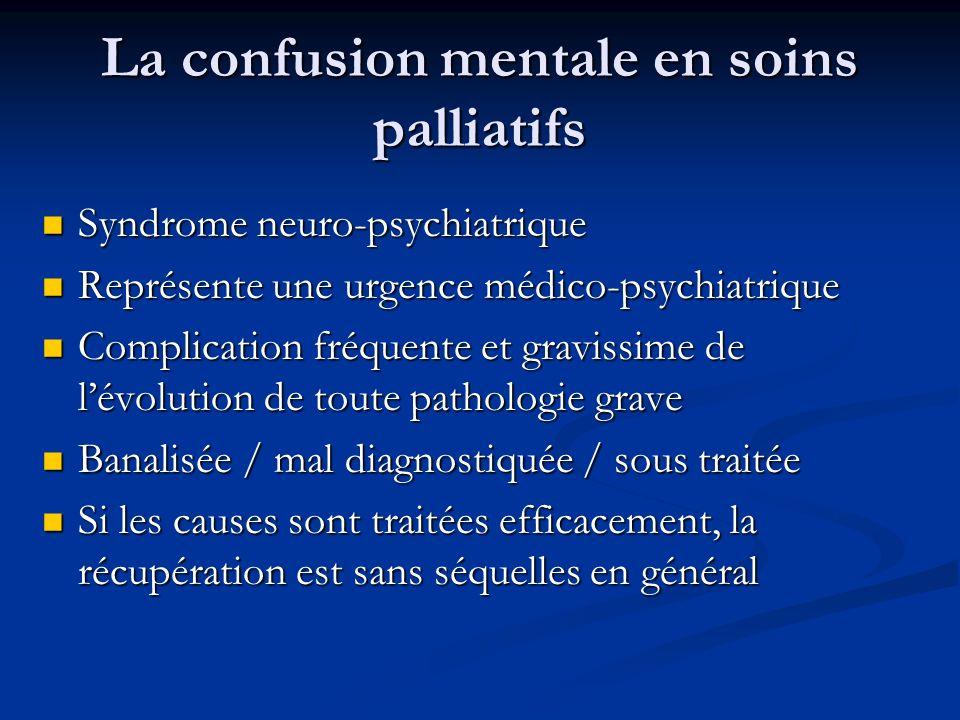 La confusion mentale en soins palliatifs