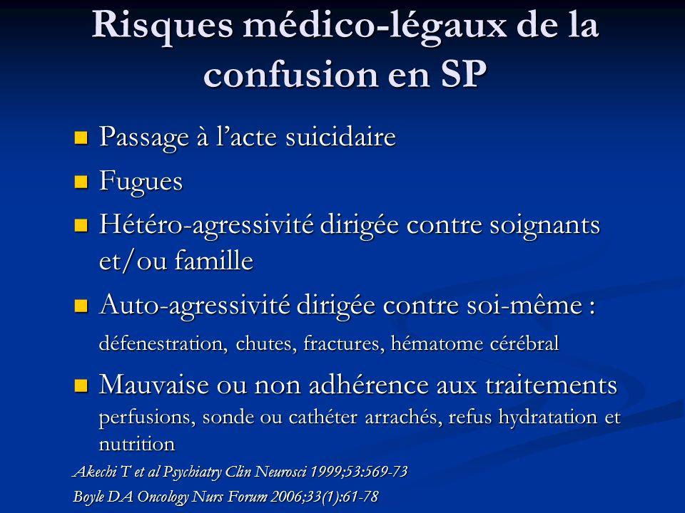 Risques médico-légaux de la confusion en SP