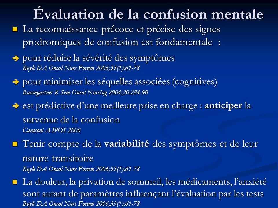 Évaluation de la confusion mentale