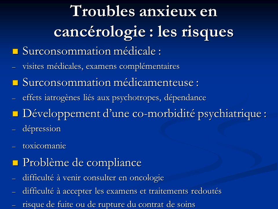 Troubles anxieux en cancérologie : les risques