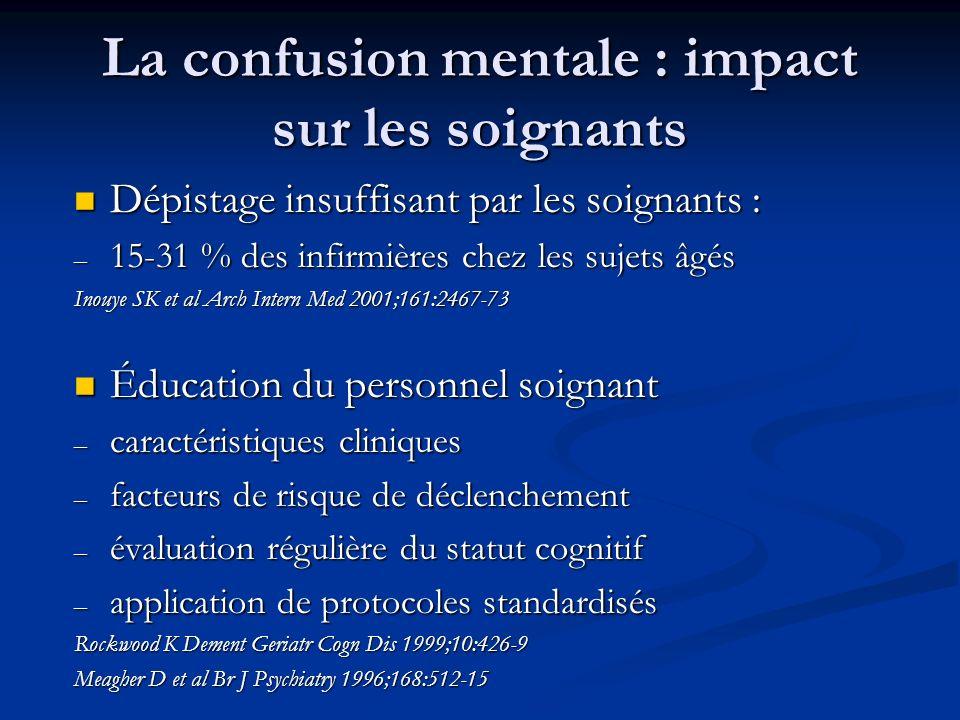 La confusion mentale : impact sur les soignants