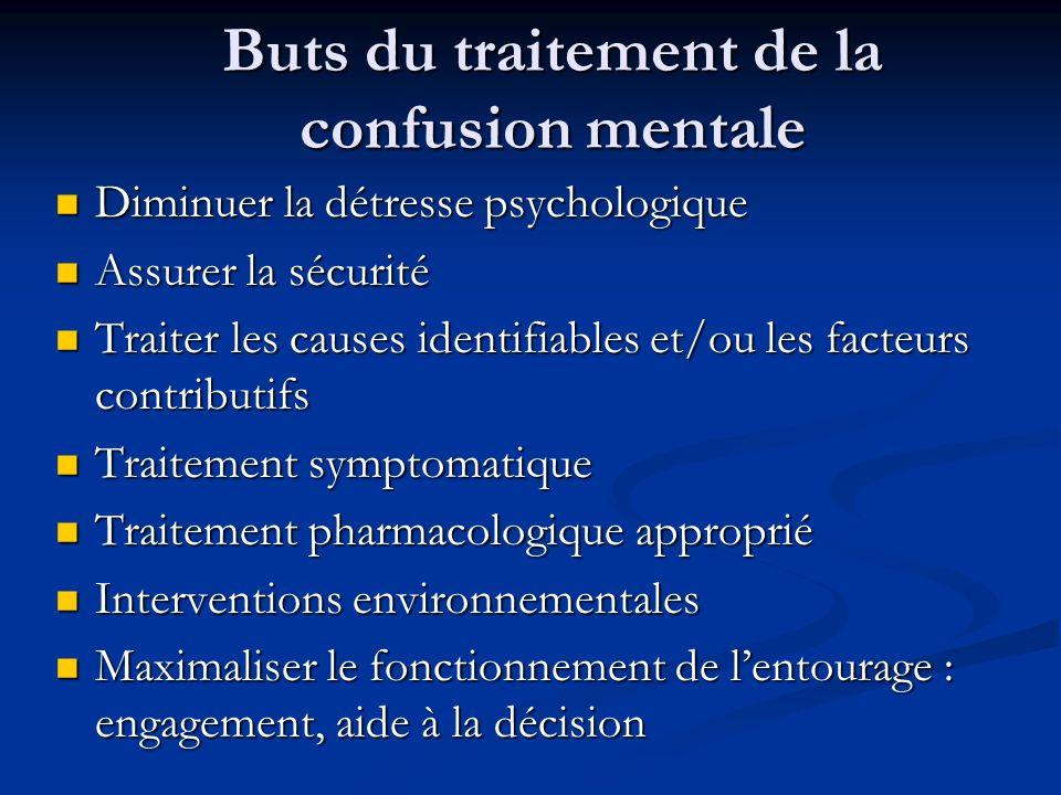 Buts du traitement de la confusion mentale